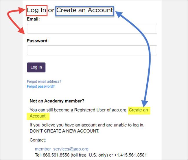 log in or create account